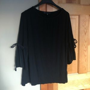 White House Black Market Blouse with Tie Sleeves